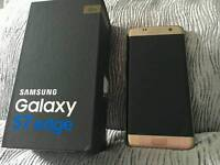 S7 Edge 32gig in gold unlocked boxed