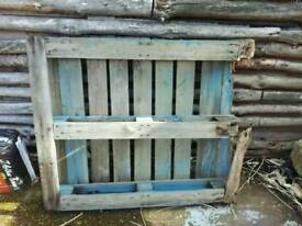 Free blue wooden pallet