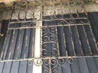 Wrought Iron Driveway Gates (pair)