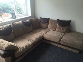 Brown sofa good condition 100 want gone today wickford