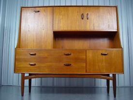 G-Plan Tall Sideboard Designed By V.B.Wilkins, Scandinavian Style, 1960's