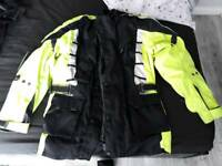 Mans textile motor bike jacket