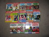News of the World Football Annuals x 14