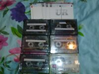 6 rarely Garage tapes with brand new covers