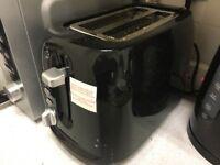 Black two slice toaster