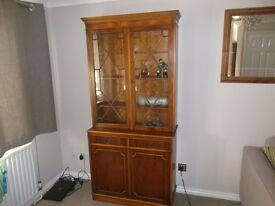 ANTIQUE YEW WALL UNIT