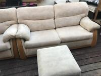 Sofa 3 seater and 2 seater and ottoman