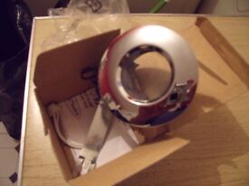 chrome shower down light . new in box. special for fitting in bathrooms and shower cubicles