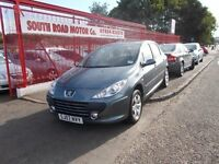 *PEUGEOT 307 S*STYLISH METALLIC GREY*2007*VERY TIDY*FULL YEARS MOT*EXCELLENT VALUE AT ONLY £1500*