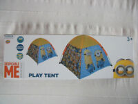 NEW Despicable Me Minion Made boxed fold-away indoor/outdoor play tent- bag. £10 ovno