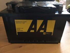 3x car battery's Like new