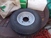 Erde wheel spare tyre like new as is rim