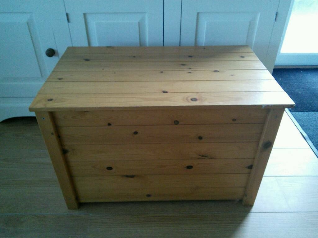 pine toy box wooden storage box solid wood toy box  in nuneaton  - pine toy box wooden storage box solid wood toy box