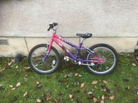 Girls pink/purple mountain bike in very good condition. Suit 5-8 yrs. £20
