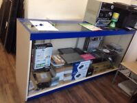glass counter and glass stand (good offer)