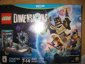 LEGO Dimensions Starter Pack with Toy Pad. (Wii U Game). Vortex. Batman. Gandalf. Wyldstyle. Master Builder