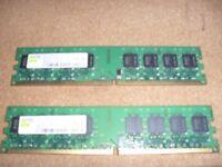 2x 1GB DDR2 RAM