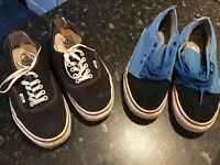 2 x Vans mens size UK 9 black and blue