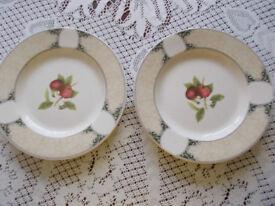 2 Arthur Woods dinner plates, apple design