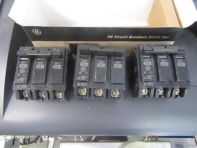 Box Of 3 Ge Thqb32030 30 Amps 240v 3 Poles Bolt-on Circuit Breaker