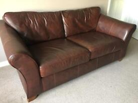 Leather M&S 2x large two seater setees
