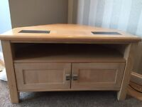 Solid wood light oak furniture with slate grey design on top