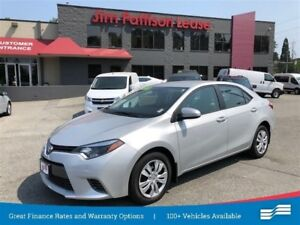 2015 Toyota Corolla LE w/rear cam, heated seats, bluetooth