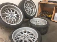 """BMW E39 5 series 18"""" Rondell 0058 Staggered Alloy Wheels *RARE* 8.5J 10J - E34 E36 E38 E46 M3"""