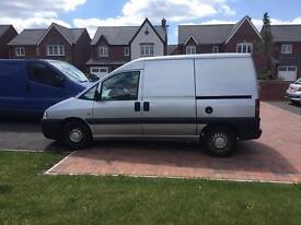 Silver Peugeot Expert Van