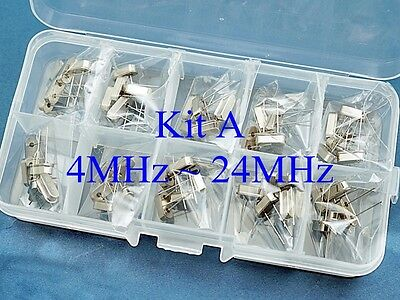 50 Kit A Quartz 10 Values 4mhz 24mhz Crystal Resonator Hc-49us Yxc