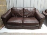 Brown Quality Leather Two and One seater Sofas for sale, FREE LOCAL DELIVERY