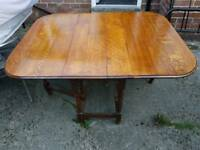 Oak Drop down Table vintage barley twist