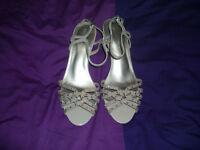 marks and spencer pink slightly heeled shoes