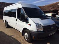 FORD TRANSIT 135T430 LWB 17 seater minibus 2014/14 white