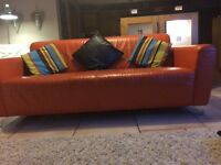 *** DFS 3 PIECE ITALIAN LEATHER SUITE*** 3 seat sofa. Armchair and chais long VGC £600 no timewaster