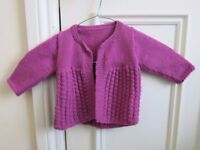 Hand-Knitted Cardigan for Baby Girl New
