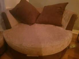 Cuddle swivel chair and 2 seater