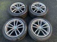 18'' GENUINE BMW 5 SERIES G30 G31 662 STYLE M SPORT ALLOY WHEELS TYRES ALLOYS 520D 530D 5X112