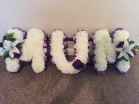 Mum tribute flowers