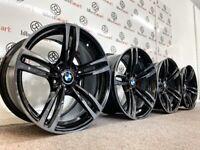 "GENUINE 19"" BMW M3/M4 ALLOY WHEELS - BLACK / TINTED DIAMOND CUT FINISH"