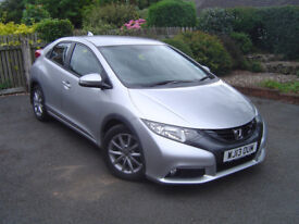 Honda Civic Hatchback 1.8i VTEC ES 2013 WJ13 OUM Reg 27th Aug 2013 Petrol 6 Speed Manual