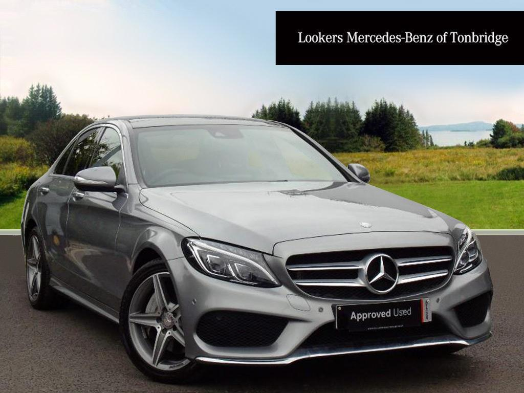 mercedes benz c class c300 bluetec hybrid amg line premium silver 2015 03 04 in tonbridge. Black Bedroom Furniture Sets. Home Design Ideas