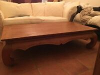 COFFEE TABLE JALI BALINESE SOLID WOOD