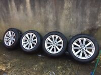 """FACTORY BMW F10 MODEL MULTI SPOKE 17"""" ALLOY WHEELS WITH TYRES 225/55/17"""