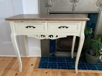 Period style dressing table with stool
