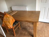 Table wood effect large dining table some marks to top but perfect working order £40 ono