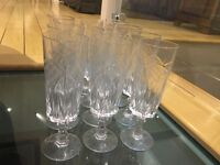 Set of 12 Crystal Glasses, simply stunning