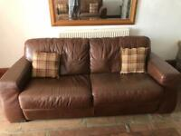 3 seater Italian leather couch
