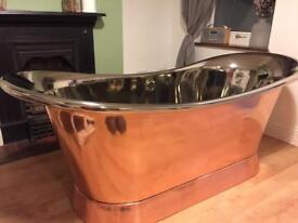 Brand new nickel and copper bathtub