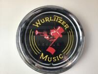 WURLITZER NEON WALL CLOCK